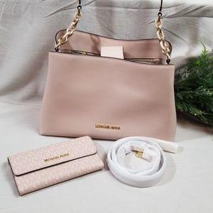Michael Kors Blush Pink Handbag & Wallet Set